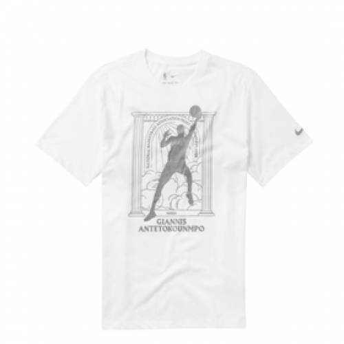 ナイキ NIKE バックス ドライフィット 白 ホワイト 【 DRIFIT WHITE NIKE GIANNIS ANTETOKOUNMPO BUCKS MVP NBATSHIRT G 】 メンズファッション トップス Tシャツ カットソー