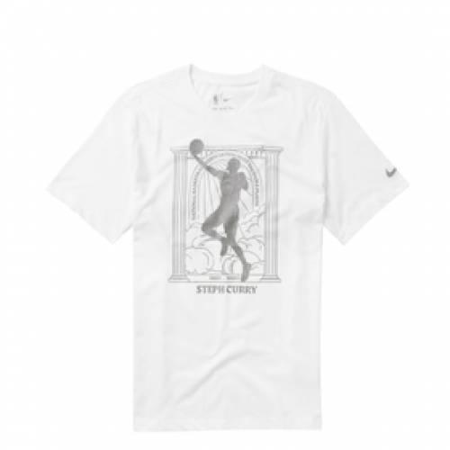 ナイキ NIKE ステファン カリー ウォリアーズ ドライフィット 白 ホワイト 【 CURRY DRIFIT WHITE NIKE STEPHEN WARRIORS MVP NBATSHIRT 】 メンズファッション トップス Tシャツ カットソー