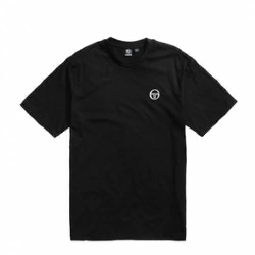 SERGIO TACCHINI Tシャツ 黒 ブラック 白 ホワイト 【 BLACK WHITE SERGIO TACCHINI SS20 TSHIRT 】 メンズファッション トップス Tシャツ カットソー