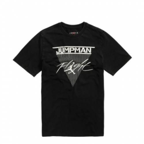 ナイキ ジョーダン JORDAN ジャンプマン フライト Tシャツ 黒 ブラック 白 ホワイト 【 FLIGHT BLACK WHITE JORDAN JUMPMAN TEE 】 メンズファッション トップス Tシャツ カットソー