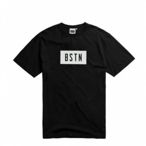 BSTN ボックス ロゴ Tシャツ 黒 ブラック 白 ホワイト 【 BLACK WHITE BSTN BOX LOGO TEE 】 メンズファッション トップス Tシャツ カットソー