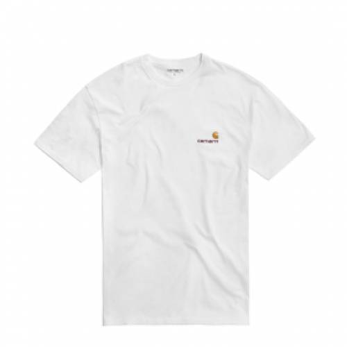 カーハート ダブリューアイピー CARHARTT WIP 半袖 Tシャツ スクリプト 白 ホワイト 【 WHITE CARHARTT WIP S AMERICAN SCRIPT TSHIRT 】 メンズファッション トップス Tシャツ カットソー