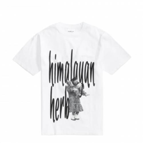 GRINDLONDON Tシャツ 白 ホワイト 【 WHITE GRINDLONDON HIMALAYAN TSHIRT 】 メンズファッション トップス Tシャツ カットソー
