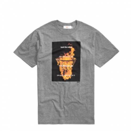 ROKIT Tシャツ GRAY灰色 グレイ 【 GREY ROKIT THE METHOD TSHIRT 】 メンズファッション トップス Tシャツ カットソー