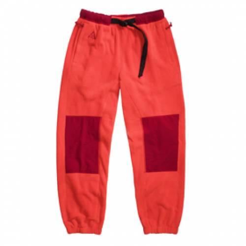 ナイキ NIKE パンツ 赤 レッド M.FLEECE 【 RED NIKE W NRG ACG TRAIL PANT HABANERO NOBLE 】 レディースファッション ボトムス パンツ