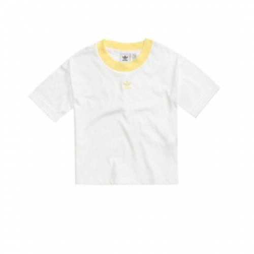 アディダス ADIDAS クロップ 白 ホワイト 【 CROP WHITE ADIDAS TOP 】 レディースファッション トップス
