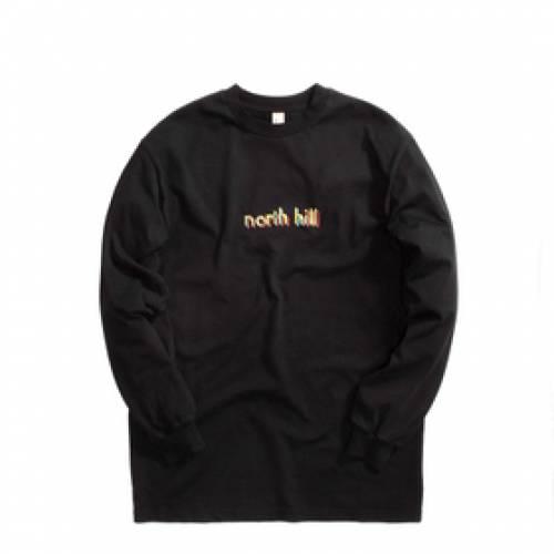 NORTH HILL ノース Tシャツ 黒 ブラック 【 BLACK NORTH HILL BAUHAUS LONGSLEEVE TEE 】 メンズファッション トップス