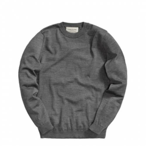 A KIND OF GUISE 灰色 グレ 【 A KIND OF GUISE PERMANENTS CREWNECK GREY 】 メンズファッション トップス