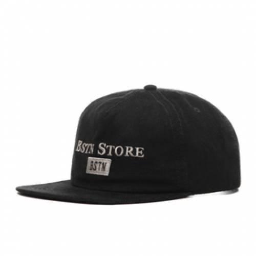 BSTN スクリプト ロゴ コーデュロイ スナップバック バッグ 黒 ブラック 銀色 シルバー 【 SNAPBACK BLACK SILVER BSTN SCRIPT LOGO CORDUROY 】 バッグ  キャップ 帽子 メンズキャップ 帽子