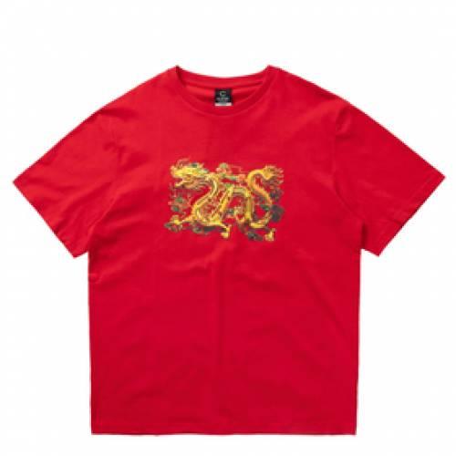 CLOTTEE ドラゴン Tシャツ 赤 レッド 【 RED CLOTTEE DRAGON SS TEE 】 メンズファッション コート ジャケット