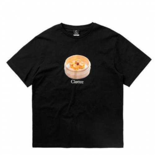 CLOTTEE Tシャツ 黒 ブラック 【 BLACK CLOTTEE SIU MAI SS TEE 】 メンズファッション コート ジャケット