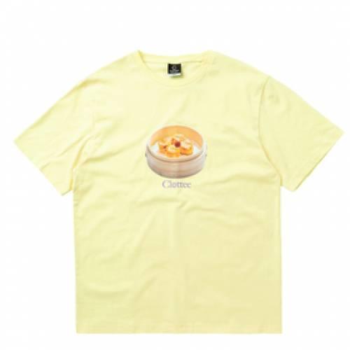 CLOTTEE Tシャツ 黄色 イエロー 【 YELLOW CLOTTEE SIU MAI SS TEE 】 メンズファッション コート ジャケット