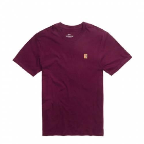 ナイキ NIKE Tシャツ 【 NIKE NIKECOURT TEE BORDEAUX 】 メンズファッション トップス Tシャツ カットソー