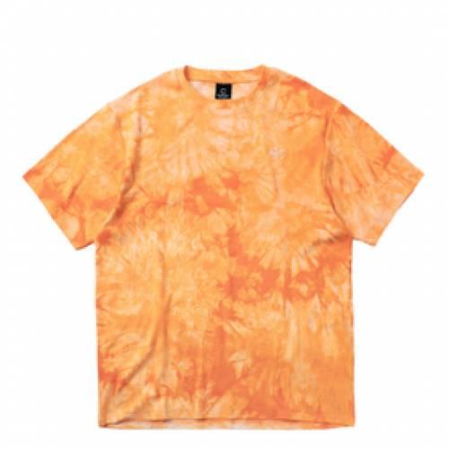 CLOTTEE Tシャツ 橙 オレンジ 【 ORANGE CLOTTEE TIE DYE SS TEE 】 メンズファッション コート ジャケット