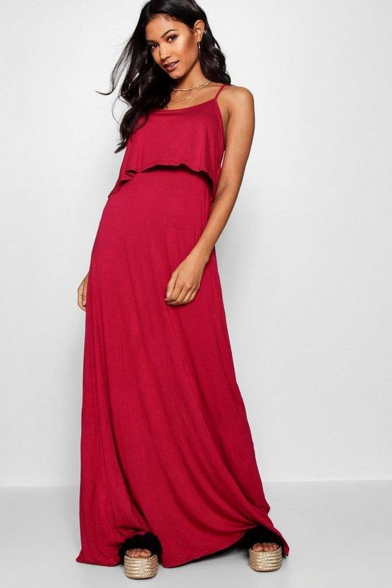 BOOHOO BASICS ドレス 【 BOOHOO BASICS TIE BACK MAXI DRESS FUCHSIA 】 レディースファッション ワンピース