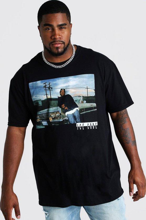 BOOHOOMAN BIG & TALL 【 AND ICE CUBE LICENSE TSHIRT BLACK 】 メンズファッション トップス Tシャツ カットソー 送料無料