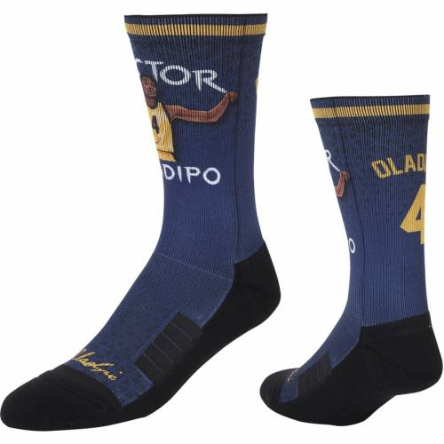 STRIDELINE インディアナ ペイサーズ ソックス 靴下 インナー 下着 ナイトウエア メンズ 下 レッグ 【 Victor Oladipo Indiana Pacers Comfy Full Sublimated Player Crew Socks 】 Color