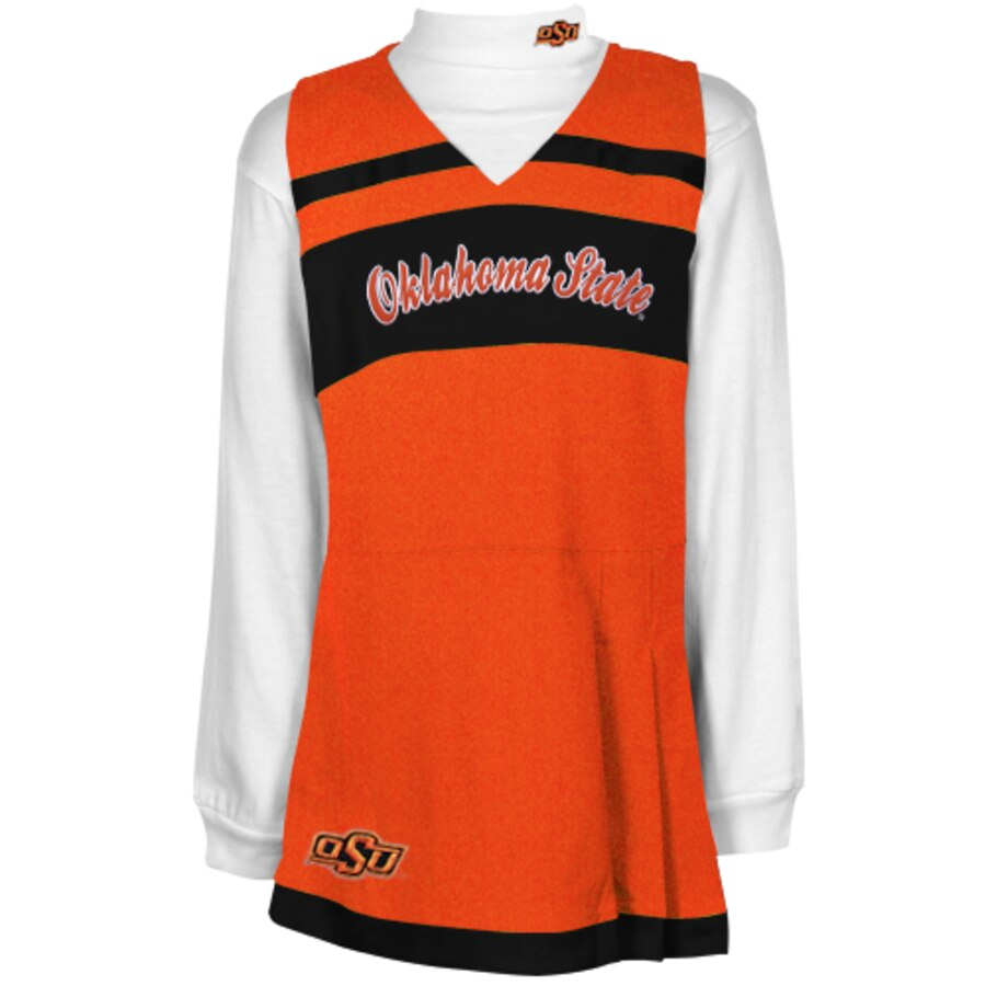 OUTERSTUFF スケートボード カウボーイズ 子供用 ドレス 【 STATE OKLAHOMA COWBOYS GIRLS YOUTH CHEER JUMPER DRESS AND TURTLENECK SET BLACK 】 キッズ ベビー マタニティ 送料無料