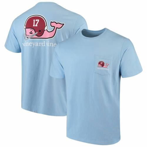VINEYARD VINES アラバマ Tシャツ 青 ブルー メンズファッション トップス カットソー メンズ 【 Alabama Crimson Tide Pocket T-shirt - Light Blue 】 Light Blue