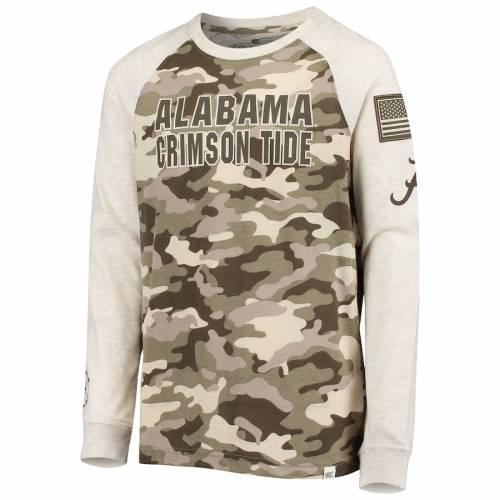 COLOSSEUM アラバマ 子供用 ラグラン スリーブ Tシャツ キッズ ベビー マタニティ トップス ジュニア 【 Alabama Crimson Tide Youth Oht Military Appreciation Desert Camo Raglan Long Sleeve T-shirt - Oatmeal 】 Oatmea