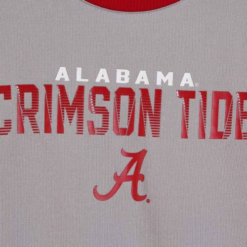 OUTERSTUFF アラバマ 子供用 ラグラン Tシャツ キッズ ベビー マタニティ トップス ジュニア 【 Alabama Crimson Tide Youth Circuit Breaker Mesh Raglan T-shirt - Gray/crimson 】 Gray/crimson