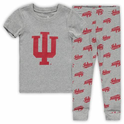 OUTERSTUFF インディアナ ベビー 赤ちゃん用 Tシャツ 灰色 グレー グレイ キッズ マタニティ ジュニア 【 Indiana Hoosiers Toddler T-shirt And Pants Sleep Set - Heathered Gray 】 Heathered Gray