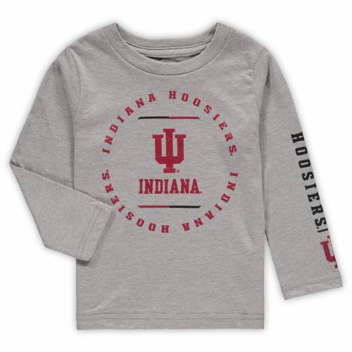 OUTERSTUFF インディアナ ベビー 赤ちゃん用 クラブ スリーブ Tシャツ 灰色 グレー グレイ キッズ マタニティ ジュニア 【 Indiana Hoosiers Toddler Club Short Sleeve And Long Sleeve T-shirt Combo Set - Crimson/he
