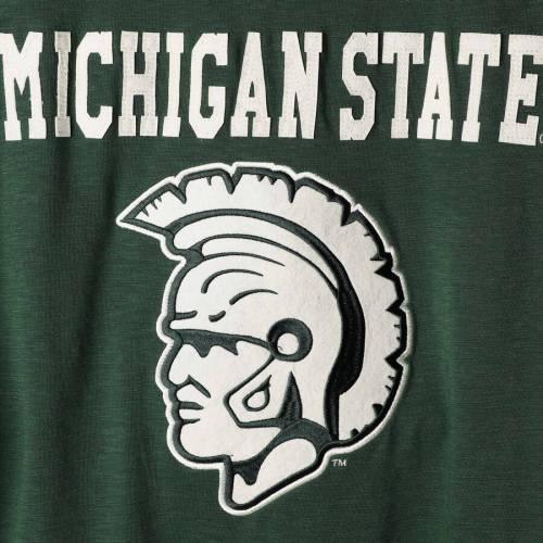 スターター STARTER ミシガン スケートボード スリーブ Tシャツ メンズファッション トップス カットソー メンズ 【 Michigan State Spartans Old School Football Long Sleeve T-shirt - Green/gray 】 Green/gray