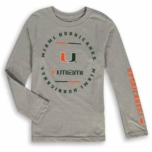 OUTERSTUFF マイアミ 男の子 女の子 子供用 クラブ スリーブ Tシャツ キッズ ベビー マタニティ トップス ジュニア 【 Miami Hurricanes Preschool Club Short Sleeve And Long Sleeve T-shirt Combo Pack - Green/gray