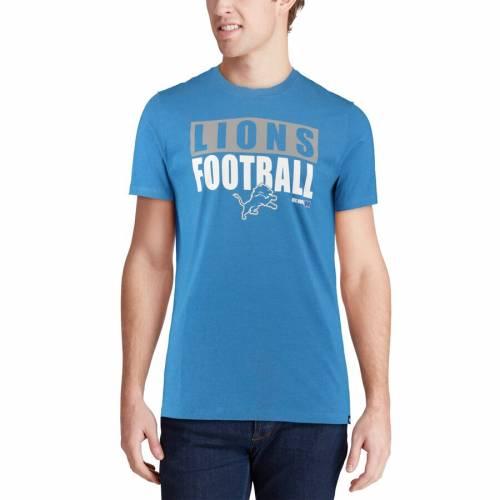 スポーツブランド カジュアル ファッション トップス 使い勝手の良い 半袖 フォーティーセブン '47 デトロイト ライオンズ クラブ CLUB BLOCKOUT BLUE カットソー 青色 Tシャツ メンズファッション ブルー TSHIRT 日本