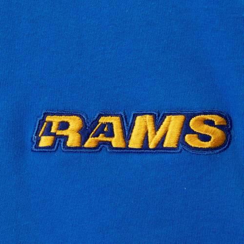 ミッチェル&ネス MITCHELL & NESS ラムズ ヘンリー Tシャツ メンズファッション トップス カットソー メンズ 【 Los Angeles Rams Mitchell And Ness Big And Tall Henley 3/4-sleeve T-shirt - Royal 】 Royal