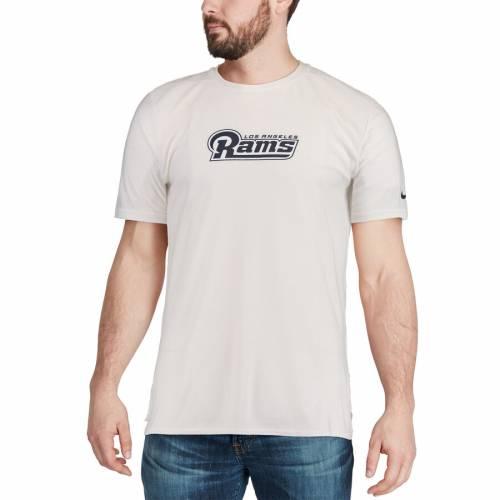 ナイキ NIKE ラムズ サイドライン Tシャツ 白 ホワイト メンズファッション トップス カットソー メンズ 【 Los Angeles Rams Sideline Player T-shirt - White 】 White