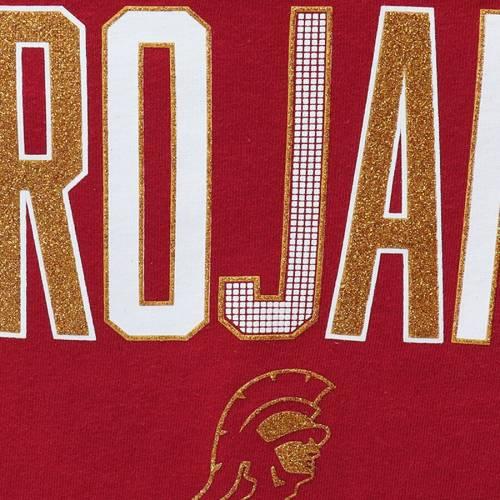 289C APPAREL 子供用 ブイネック Tシャツ 灰色 グレー グレイ キッズ ベビー マタニティ トップス ジュニア 【 Usc Trojans Girls Youth Bomar V-neck T-shirt - Gray 】 Gray