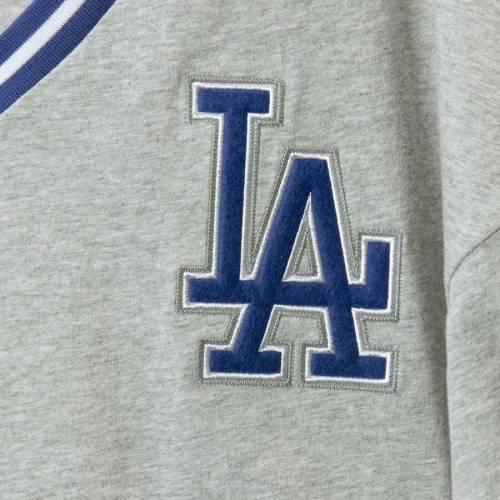 ミッチェル&ネス MITCHELL & NESS ドジャース ブイネック Tシャツ 灰色 グレー グレイ & 【 GRAY MITCHELL NESS LOS ANGELES DODGERS BIG TALL OVERTIME WIN VNECK TSHIRT 】 メンズファッション トップス Tシ