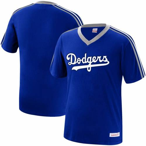 ミッチェル&ネス MITCHELL & NESS ドジャース ブイネック Tシャツ メンズファッション トップス カットソー メンズ 【 Los Angeles Dodgers Mitchell And Ness Big And Tall Overtime Win Wordmark V-neck T-shirt -