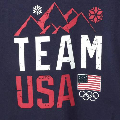 OUTERSTUFF チーム 子供用 Tシャツ 紺 ネイビー キッズ ベビー マタニティ トップス ジュニア 【 Team Usa Youth Girls Mountain Top T-shirt - Navy 】 Navy