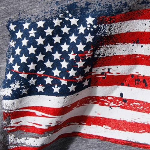 OUTERSTUFF チーム 子供用 ブイネック Tシャツ 灰色 グレー グレイ キッズ ベビー マタニティ トップス ジュニア 【 Team Usa Girls Youth Spark Flag V-neck Tri-blend T-shirt - Gray 】 Gray