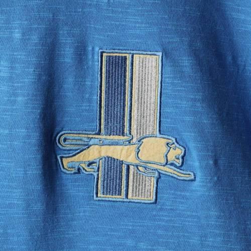 ミッチェル&ネス MITCHELL & NESS デトロイト ライオンズ スリーブ ヘンリー Tシャツ 青 ブルー メンズファッション トップス カットソー メンズ 【 Detroit Lions Mitchell And Ness Big And Tall First
