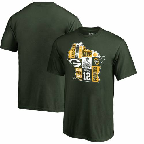 NFL PRO LINE BY FANATICS BRANDED 緑 グリーン パッカーズ 子供用 スケートボード Tシャツ キッズ ベビー マタニティ トップス ジュニア 【 Aaron Rodgers Green Bay Packers Youth Player State T-shirt - Green 】 Gr