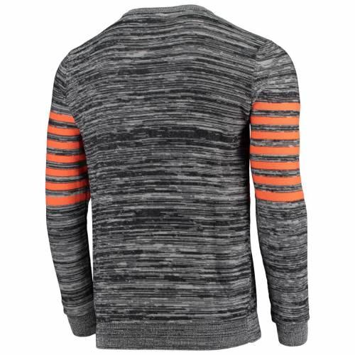 FOCO クリーブランド ブラウンズ ニット スリーブ ヘンリー Tシャツ 灰色 グレー グレイ メンズファッション トップス カットソー メンズ 【 Cleveland Browns Retro Marled Knit Long Sleeve Henley T-shirt