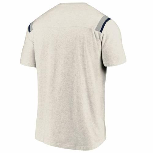 NFL PRO LINE BY FANATICS BRANDED シカゴ ベアーズ ロゴ ストライプ Tシャツ メンズファッション トップス カットソー メンズ 【 Chicago Bears True Classics Logo Stripe Tri-blend T-shirt - Ash 】 Ash