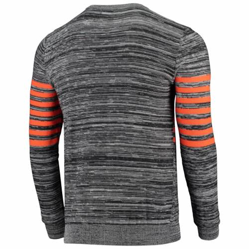 FOCO シカゴ ベアーズ ニット スリーブ ヘンリー Tシャツ 灰色 グレー グレイ メンズファッション トップス カットソー メンズ 【 Chicago Bears Retro Marled Knit Long Sleeve Henley T-shirt - Gray 】 Gray