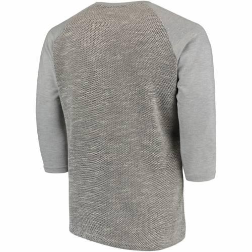 MAJESTIC THREADS カーディナルス ラグラン Tシャツ 灰色 グレー グレイ St. メンズファッション トップス カットソー メンズ 【 St. Louis Cardinals Tri-yarn French Terry 3/4-sleeve Raglan T-shirt - Gray 】 Gray