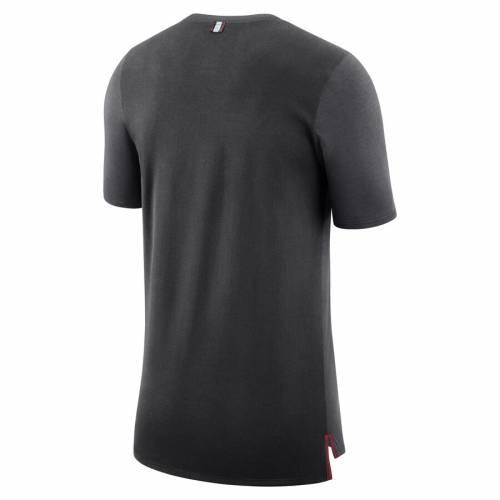 ナイキ NIKE スタンフォード 赤 カーディナル パフォーマンス Tシャツ メンズファッション トップス カットソー メンズ 【 Stanford Cardinal Travel Meshback Performance T-shirt - Anthracite 】 Anthracite
