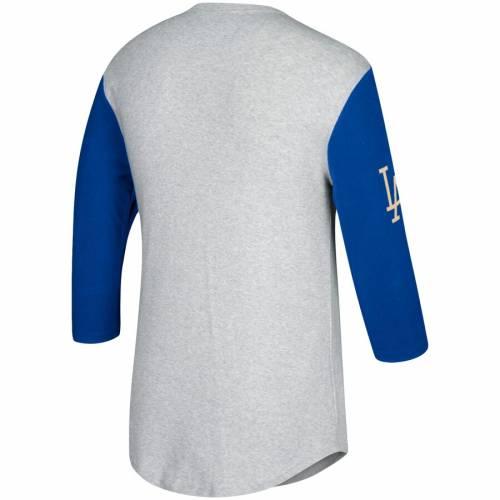 ミッチェル&ネス MITCHELL & NESS ドジャース Tシャツ メンズファッション トップス カットソー メンズ 【 Los Angeles Dodgers Mitchell And Ness Scoring Position 3/4-sleeve T-shirt - Gray/royal 】 Gray/royal