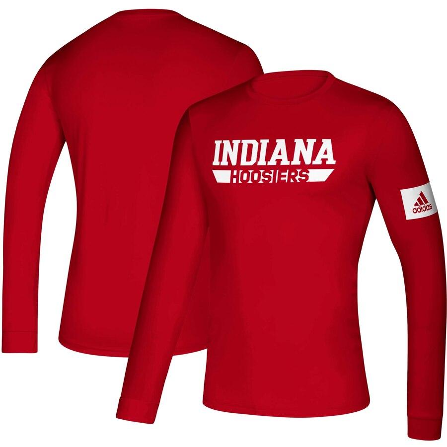 アディダス ADIDAS インディアナ サイドライン プラクティス スリーブ Tシャツ メンズファッション トップス カットソー メンズ 【 Indiana Hoosiers 2019 Sideline Practice Creator Climalite Long Sleeve T-s