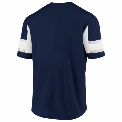 NFL PRO LINE BY FANATICS BRANDED ラムズ ブイネック Tシャツ 紺 ネイビー メンズファッション トップス カットソー メンズ 【 Los Angeles Rams Iconic Hashmark V-neck T-shirt - Navy 】 Navy