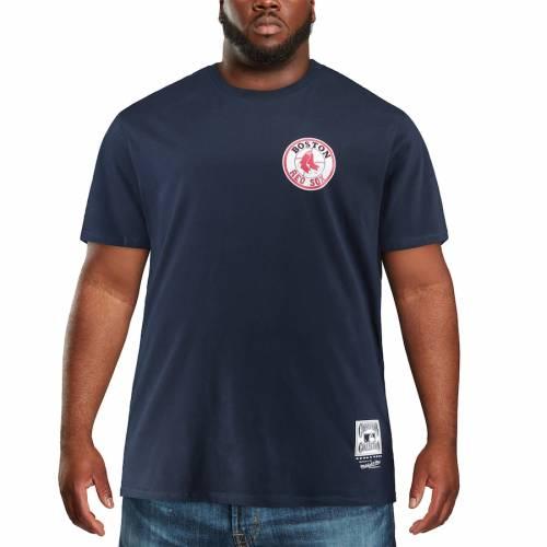 ミッチェル&ネス MITCHELL & NESS ボストン 赤 レッド クーパーズタウン コレクション Tシャツ 紺 ネイビー メンズファッション トップス カットソー メンズ 【 Boston Red Sox Mitchell And Ness B