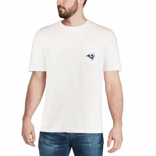 VINEYARD VINES ラムズ ロゴ Tシャツ 白 ホワイト メンズファッション トップス カットソー メンズ 【 Los Angeles Rams Circle Logo T-shirt - White 】 White