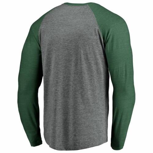 NFL PRO LINE BY FANATICS BRANDED 緑 グリーン パッカーズ ラグラン スリーブ Tシャツ メンズファッション トップス カットソー メンズ 【 Green Bay Packers True Classics Triangular Throwback Raglan Long Sleeve T-